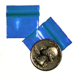 "1000 Blue Baggies 1034 zip lock 1 x 0.75"" Apple® brand"