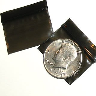 200 Black Baggies 1510 zip lock  bags 1.5 x 1 inch