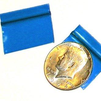 "200 Blue Baggies 1.25 x 0.75"" small zip lock bags 12534"