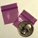 "200 Purple Apple Baggies 1034 zip lock 1 x 0.75"""