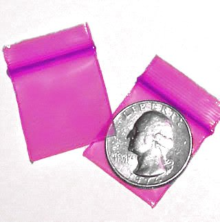 1000 Pink 1010 Baggies 1 x 1 in. Small Ziplock Bags