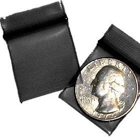 200 Black 1010 Baggies 1 x 1 in. Small Ziplock Bags