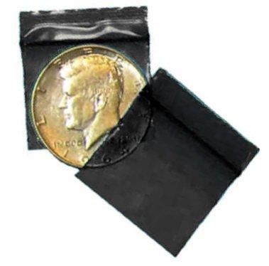 100 Black Baggies 12510 zip lock bags 1.25 x 1 inch