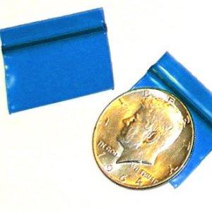 "1000 Blue Baggies 1.25 x 0.75"" small ziplock bags 12534"