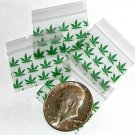 "200 Green Leaves Baggies 1510,  1.5 x 1"" ziplock bags"