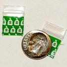 100 Money Bags Apple Baggies 1212 Small Zip Bags 0.5 x 0.5 in