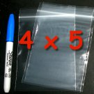 100 4 x 5 in. small zip lock bags clear 2 mil reclosable