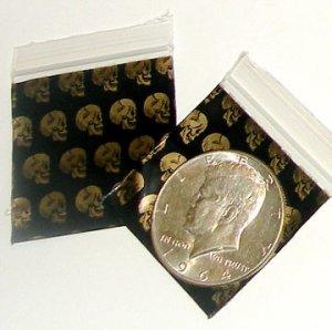 "200 Skulls Baggies 1.5 x 1.5"" Small Ziplock Bags 1515"