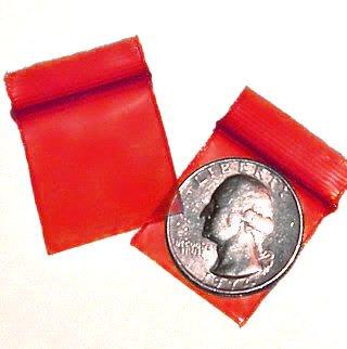 200 Red 1010 Baggies 1 x 1 in. Small Ziplock Bags