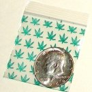 "200 Green Leaves 2 x 2"" Small Ziplock Bags"