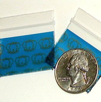 200 Royal Crowns Baggies 12510 ziplock bags 1.25 x 1 inch