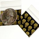 200 Skulls Baggies 12510 ziplock bags 1.25 x 1 inch