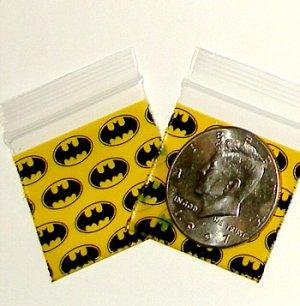 "200 Batman Baggies 1.5 x 1.5"" Small Ziplock Bags 1515"