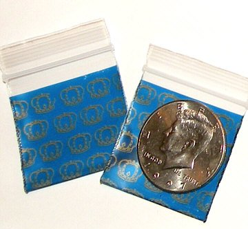 """200 Royal Crowns Baggies 1.5 x 1.5"""" Mini Ziplock Bags 1515"""