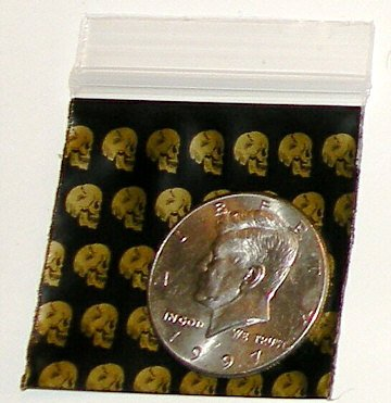 "200 Skulls 2 x 2"" Small Ziplock Bags 2020 Baggies"