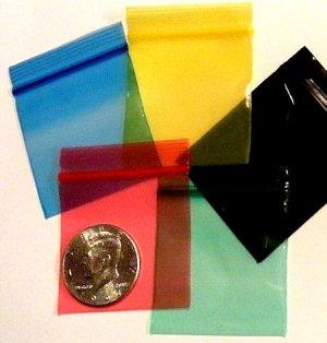 "200 Colorful Mix  2 x 2"" Baggies Small Ziplock Bags 2020"