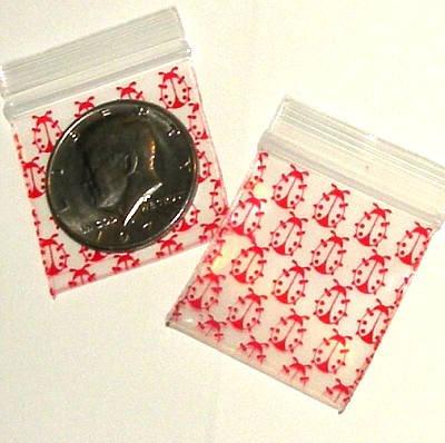 "200 Red Ladybugs Baggies 1.5 x 1.5"" Small Ziplock Bags 1515"