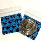 "1000 Superman Apple Baggies 1.5 x 1.5"" Small Zip Bags 1515"