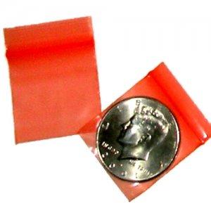 200 Orange Baggies 1.25 x 1.25 inch Small Ziplock Bags