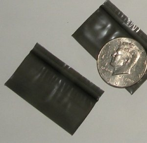 300 Black 2010 Baggies 2 x 1 inch Small Ziplock Bags