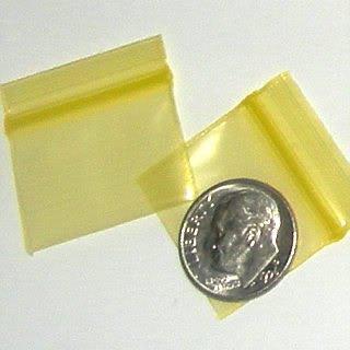 "200 Yellow Baggies 1034 ziplock 1 x 0.75"" Apple® brand"