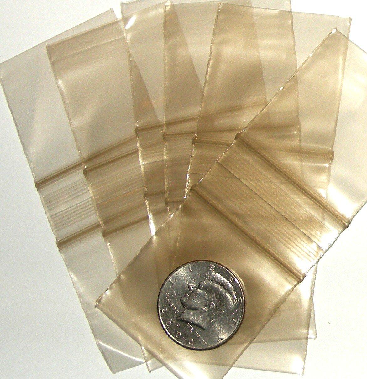 "200 Gold tinted Baggies 2 x 2"" Small Ziplock Bags 2020"