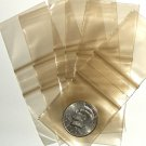 "200 Gold tinted Baggies 2 x 2"" Small Ziplock Bags 2020"