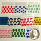 "1000 Mixed Design Baggies 1510,  1.5 x 1"" zip lock bags"