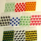 "1000 Assorted Designs Apple Baggies 1.25 x 1.25"" Small Zip Bags 125125"