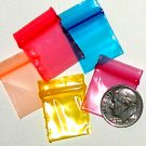 "200 Rainbow Colors Baggies 3434 zip lock 0.75 x 0.75"" Apple Brand"