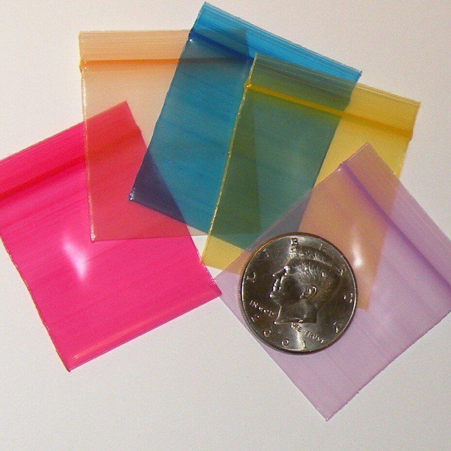 "100 Rainbow Colors Baggies 1.75 x 1.75"" Small Ziplock Bags 175175"