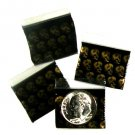 100 Gold/Black Skulls Apple Baggies 1034 zip lock 1 x 0.75""