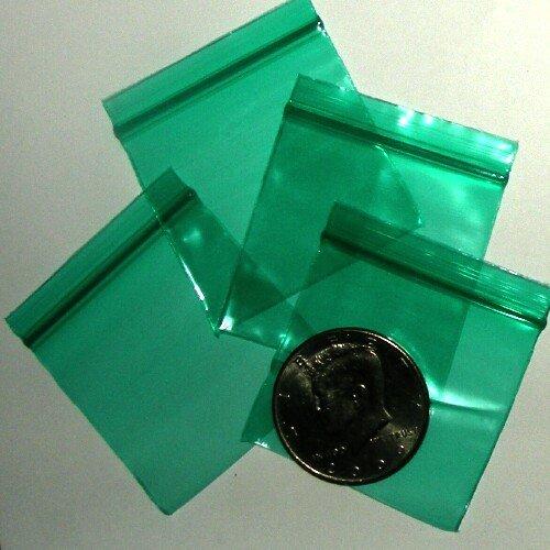 "200 Green Baggies 1.75 x 1.75"" Small Ziplock Bags 175175"
