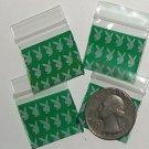 "100 Bunnies Apple Baggies 1010  small zip lock bags 1 x 1"""