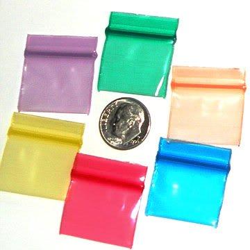 "1000 Rainbow Colors Apple Baggies 1034 zip lock 1 x 0.75"""