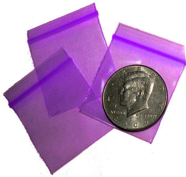 "1000 Purple Apple Baggies 1.5 x 1.5"" Small Ziplock Bags 1515"