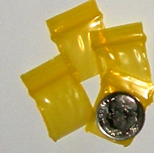 "200 Yellow Baggies 3434 zip lock 0.75 x 0.75"" Apple Brand"