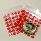 "200 Red Dice 2 x 2"" Small Ziplock Bags 2020"
