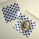 """1000 Blue Stars 2 x 2"""" Small Ziplock Bags 2020"""