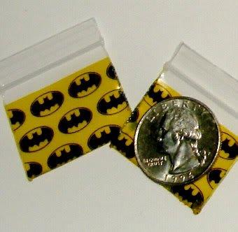 "200 Batman Baggies 12510 1.25 x 1"" small ziplock bags"