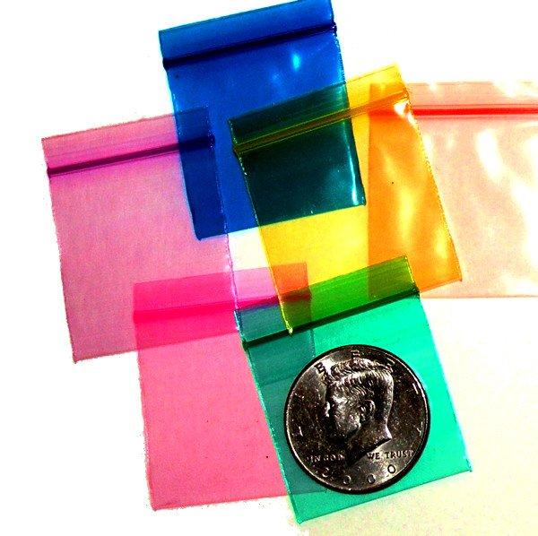 "200 Rainbow Colors Baggies 1.5 x 1.5"" Small Ziplock Bags 1515"