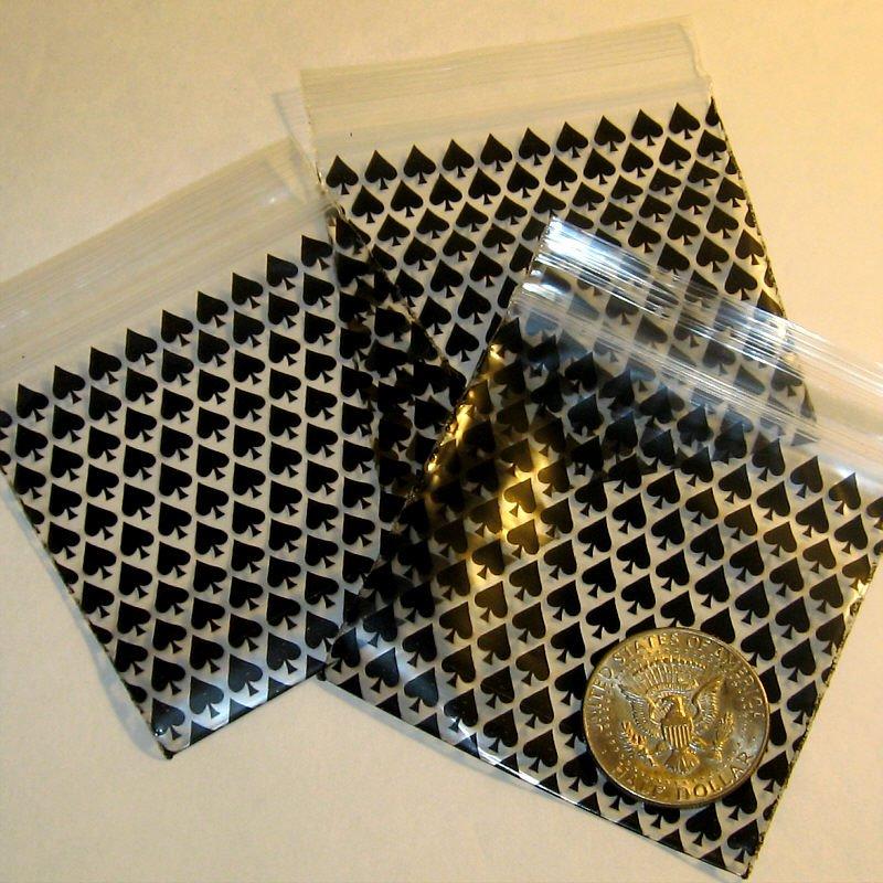"""200 Spades 3 x 3"""" mini ziplock bags 3030"""