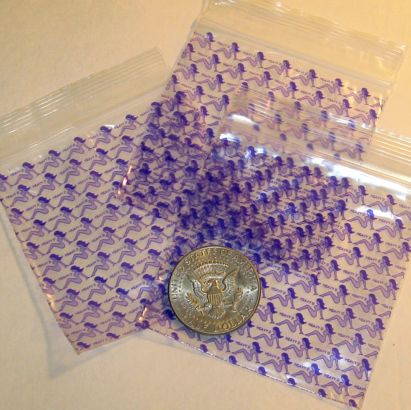 "200 Heavy D baggies 3 x 3"" mini ziplock bags 3030"