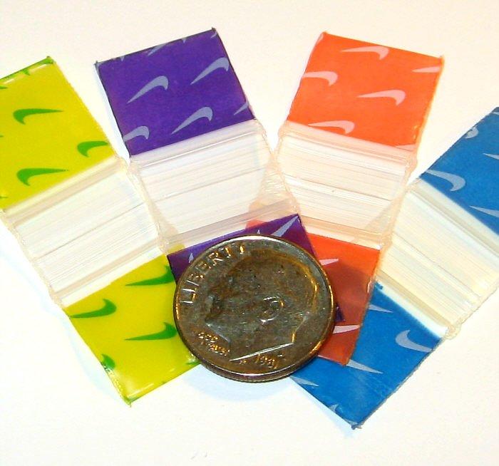 400 Colormix Swoosh Baggies, 5858 ziplock bags 0.63 x 0.63 inch