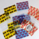 300 Superheroes  Baggies  1.25 x 1 in. Spider-  Bat- Superman