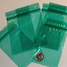 "100 Green baggies 2 x 3"" mini zip lock bags 2030"
