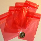 "100 Red baggies 2 x 3"" mini zip lock bags 2030"