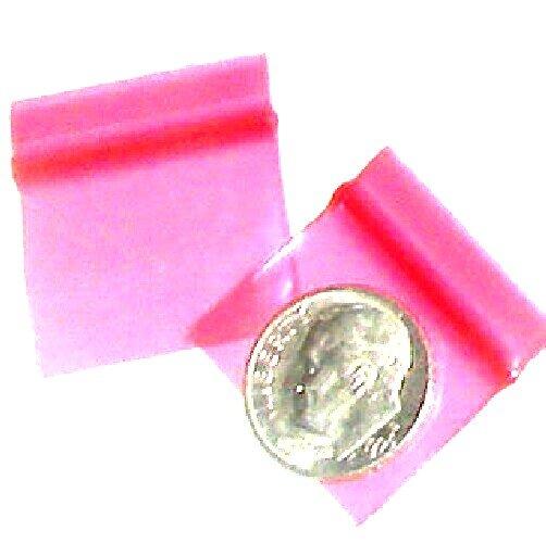 "100 Pink Apple Baggies 1034 zip lock 1 x 0.75"""