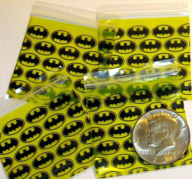 "1000 Batman Baggies 2 x 2"" Small Ziplock Bags 2020"