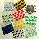 100 Baggies 12510 10 diff. Mixed Designs 1.25 x 1 in.